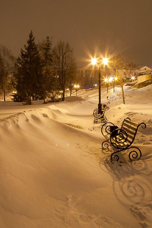 Méditation - Même en hiver, suite à une tempête de neige, je retrouve mon banc…