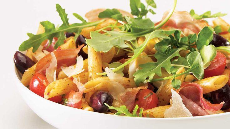 Penne à l'italienne et sa garniture de verdures