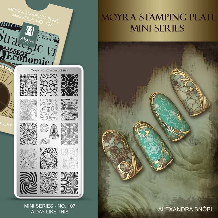 "186 Likes, 6 Comments - Moyra Nail Polish and Stamping (@moyra_nailpolish_and_stamping) on Instagram: ""Moyra Stamping Plate Mini Series No. 107 A day like thos  #moyra #nailart #stamping #plate…"""