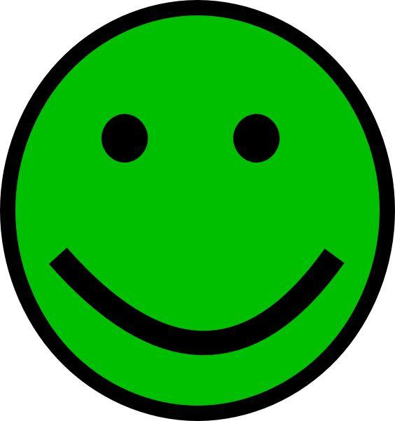 Straight Line Smiley Face Clip Art : Green smiley face clip art at clker vector