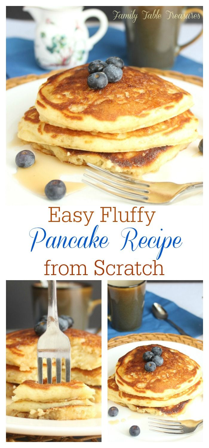 Easy Fluffy Pancake Recipe From Scratch