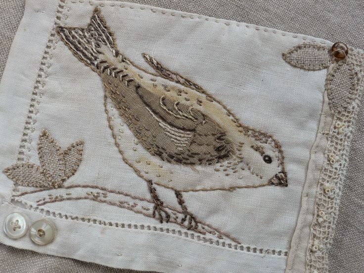 I'm slow stitching my way through these January days making these little bird pieces, When completed, they will be made into 'bird ...