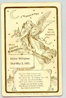 Olive Tree Genealogy Blog: Graveyard Rabbits Carnival: Funeral Cards