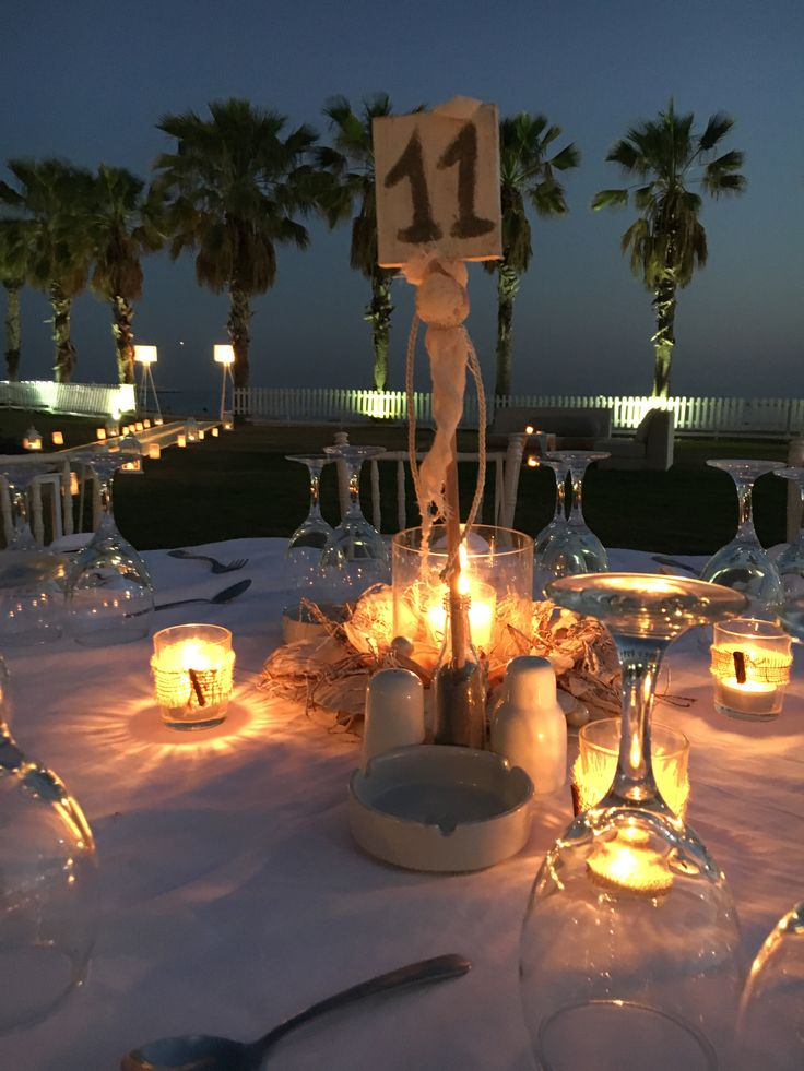 Wedding table decoration  By the sea