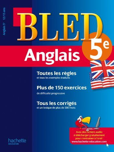 Cahier Bled - Anglais 5ème - 12-13 ans #Cahier #Bled #Anglais #ème