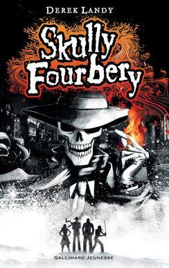 Skully Fourbery de Derek Landy. À la mort de son oncle, Stephanie Edgley, 12 ans, hérite d'une vaste propriété. Un curieux individu, emmitouflé dans un long manteau, le visage dissimulé par une écharpe, des lunettes noires et un chapeau, fait irruption chez le notaire lors de la lecture du testament. Son nom est Skully Fourbery, détective privé de son état, cynique comme il se doit, mais aussi... le squelette vivant d'un magicien mort quatre cents ans plus tôt!