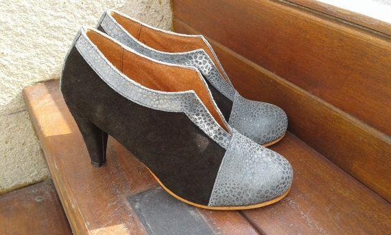 Mira este artículo en mi tienda de Etsy: https://www.etsy.com/es/listing/190770449/high-heel-leather-handmade-shoes-women