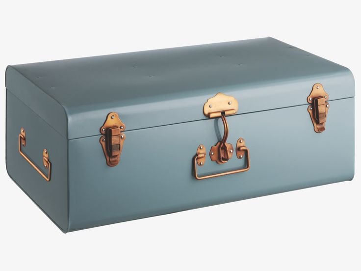 TRUNK BLUE Metal Blue metal storage trunk - HabitatUK
