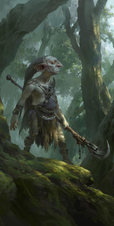 Goblin hunter by FLOWERZZXU on DeviantArt (detail)