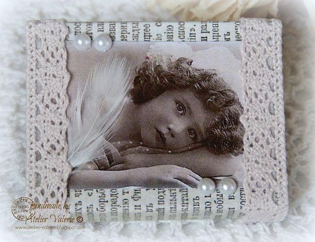 Een luciferdoosje omgetoverd naar een romantisch cadeau doosje … Heerlijk om…