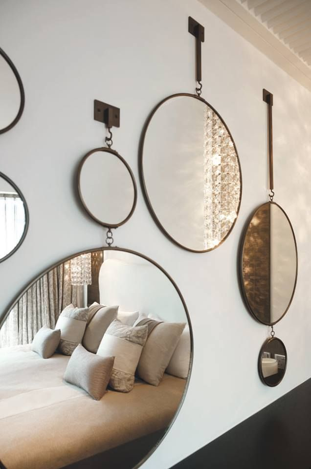 #Decoration_interieur #Interior_design | #decor_mur #wall_decor #wall | ► Mosaïque de #miroirs ronds | Mosaic round #mirrors