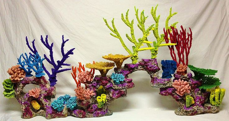Custom aquarium reef insert aquarium decoration fake coral for Artificial coral reef aquarium decoration inserts