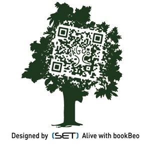 QR Code bookBeo designé pour FAGUO à l'occasion d'une super opération de street-marketing 3.0.