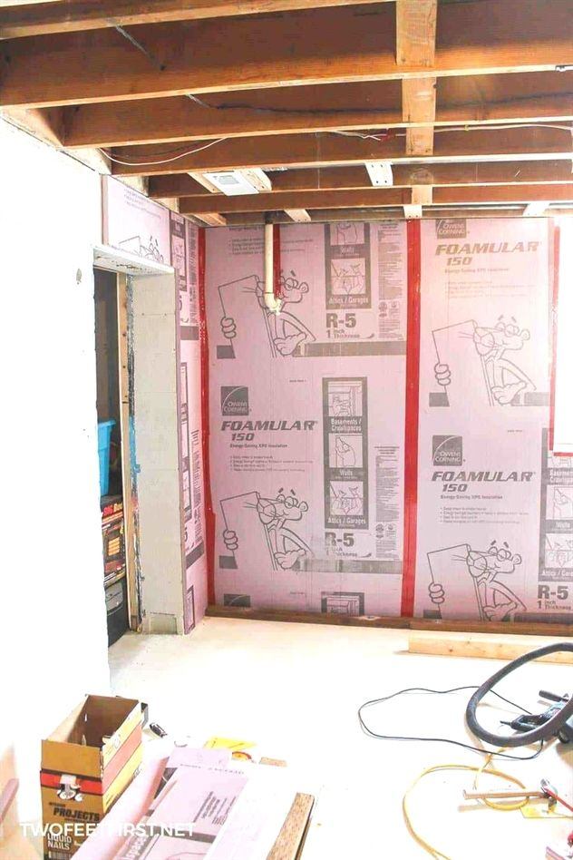 framing a basement wall against concrete or cinderblock is not as rh in pinterest com framing a basement wall against concrete Basement Wall Framing Tips