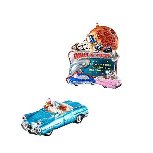 One Hundred 80 Degrees 1950's Drive-In Ornaments (Set/2)