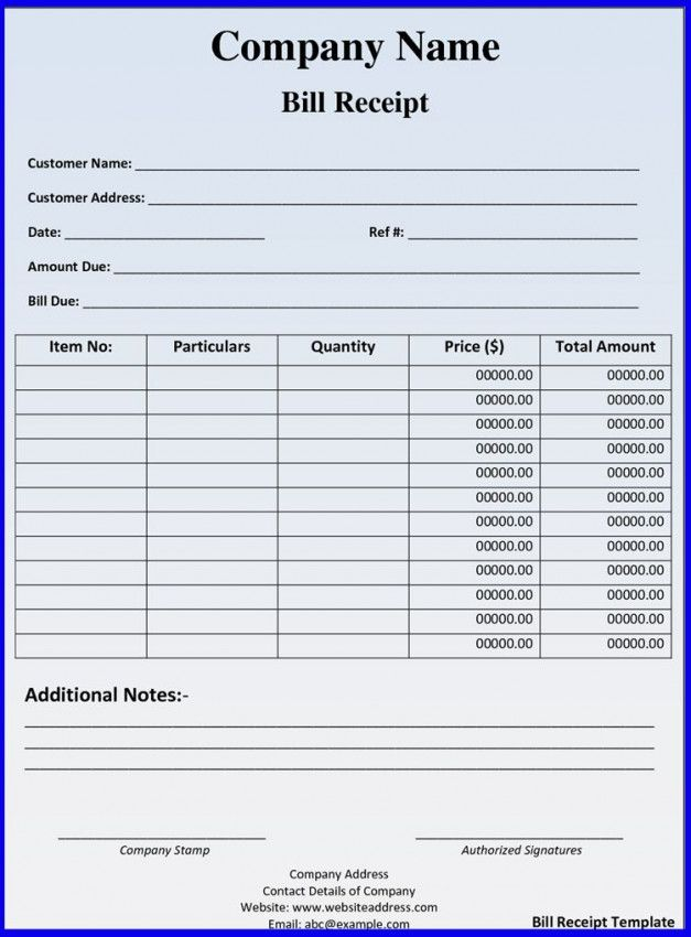Hotel Bill Format In Excel Download In 2021 Invoice Template Funeral Program Template Templates