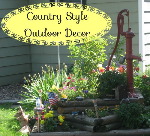 Country style outdoor decorating ideas outdoors decor for Outdoor yard decor ideas