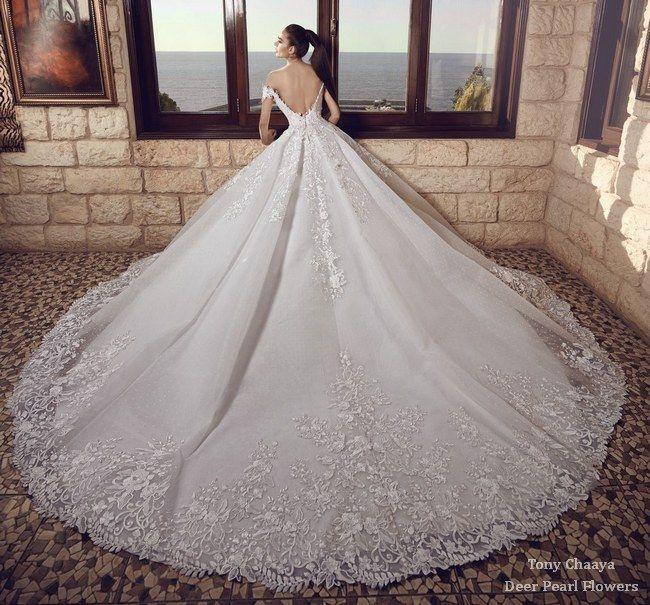 Tony Chaaya wedding dresses 2017 | Deer Pearl Flowers