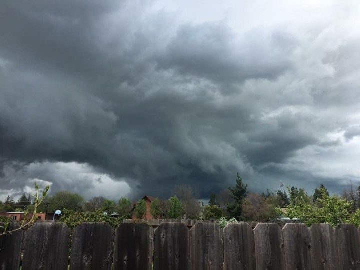 Compilation of photos from Merced County's tornado warning today