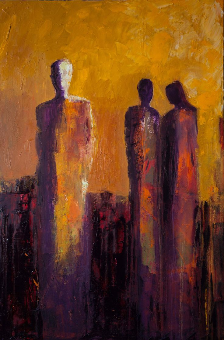 """Stepping Away"" by Shelby McQuilkin Abstract figurative oil painting"