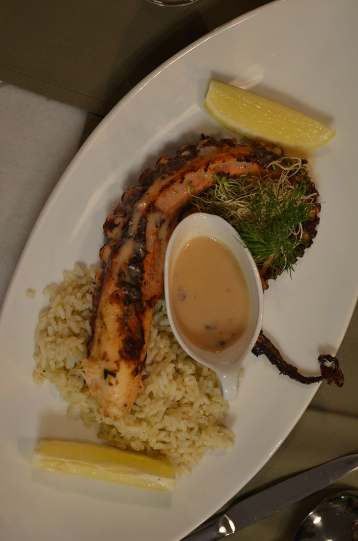 Grilled octopus..........