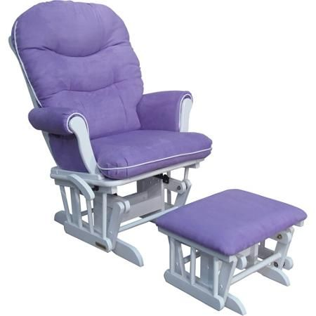 A Purple Nursery Glider Shermag Richmond Deluxe Sleigh