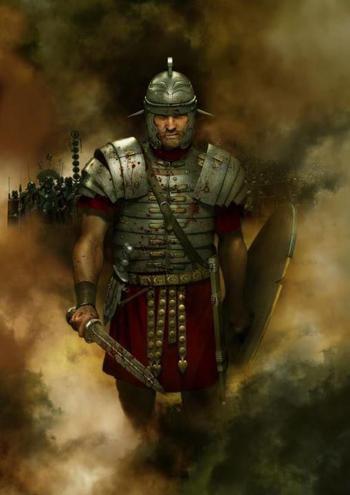 Legionary. The legionary's personal weapons were two javelins, a sword and a dagger.