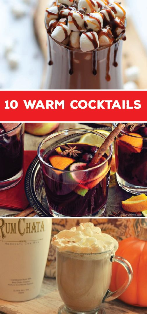 These 10 Warm Cocktails are perfect for a cozy night in this winter. With recipes for everything from an Earl Grey Hot Toddy and Butterbeer, to Kahlua Hot Chocolate and Mulled Wine, you're sure to find the perfect boozy cocktail for a chilly day.