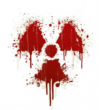 Radioactive symbol blood splatter  Photographer  domencolja