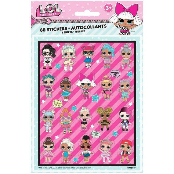 60 Sheets Diary with Pom Pen with Lock Key On Card /& Sticker LOL SURPRISE