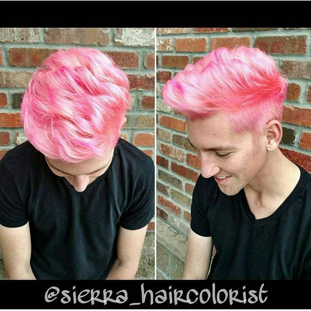 #btconeshot_haircolor16 #btconeshot_color16 #btconeshot_men16  #btconeshot_rainbow16  #pinkhair #lanza #menshair #haircut #fauxhawk #behindthechair #modernsalon #americansalon #hairdressersrock #lanza #lpweeklydo @lanzahaircare @behindthechair_com @behindthechair_stylist @beautylaunchpad @modernsalon @american_salon @menshair2.0