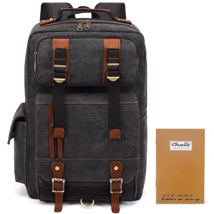 Casual Canvas Laptop Daypack College Backpack for Men and Women