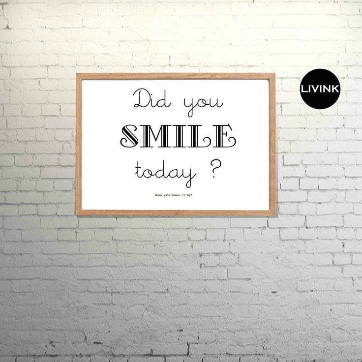 A4 Did you smile today
