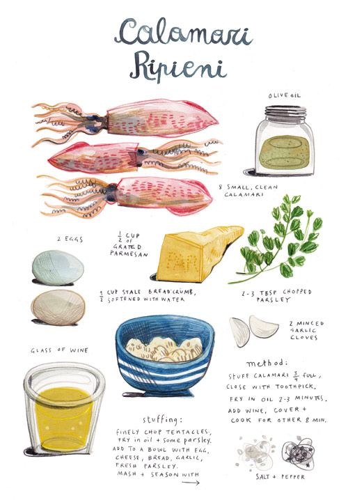 in the kitchen with: felicita sala's stuffed calamari