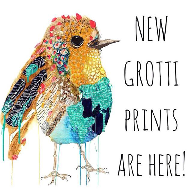 NEW @grottilotti prints are now online! ⚡️ Swipe to see the lovely new designs