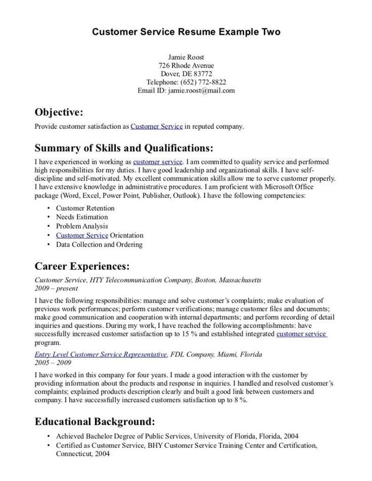 Pinterestu0027teki 25u0027den fazla en iyi Customer service resume fikri - telemarketing resume