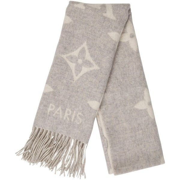 Pre-owned Louis Vuitton 2017 Cashmere Reykjavik Scarf (15 290 UAH) ❤ liked on Polyvore featuring men's fashion, men's accessories, men's scarves, grey, mens scarves and mens cashmere scarves