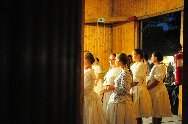 Women in traditional Hungarian Dresses
