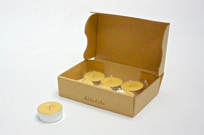 お米のティーライトキャンドル (6個入) 食卓に米ぬかから出来たキャンドルを添えて、いつもとは少し違った雰囲気でおいしい食事を大切な人と楽しみたい方に。   COS KYOTO Online Store