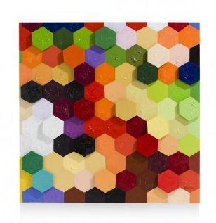 Met dit schilderij Colorful honeycomb ga je echt scoren! Het schilderij is van Youniq en zoals de naam al doet verraden; hij is echt kleurrijk! Wat een mooie blikvanger.. Het leuke is dat sommige vlakjes hoger liggen als andere, waardoor je dus hoogte ziet en voelt!