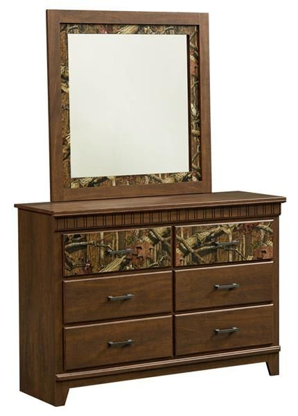 Solitude Transitional Brown Cherry Wood Dresser