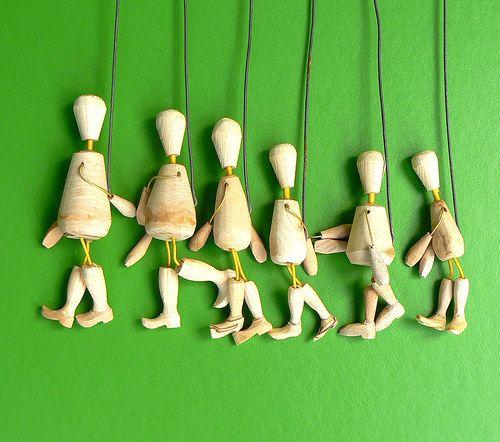 dřevěné nedokončené loutky - malé