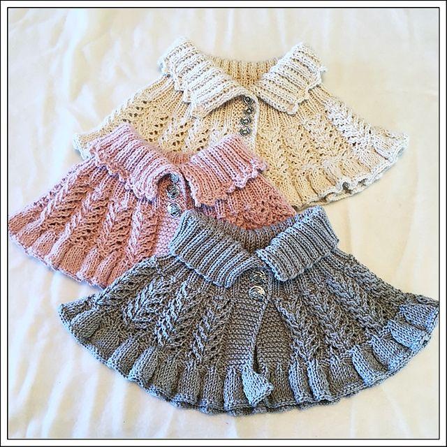 Mønsteret strikkes frem og tilbake, og passer til dame/store barn. Til små barn kan mønsteret strikkes med tynnere garn og pinner.