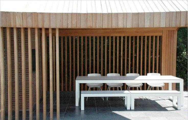 17 beste afbeeldingen over overkapping op pinterest tuinen buitenleven en tuin - Moderne buitentuin ...