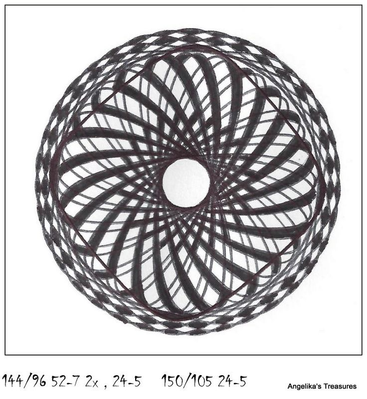 553 best spirographs and repeating patterns images on pinterest mandalas repeating patterns - Spirograph clock ...