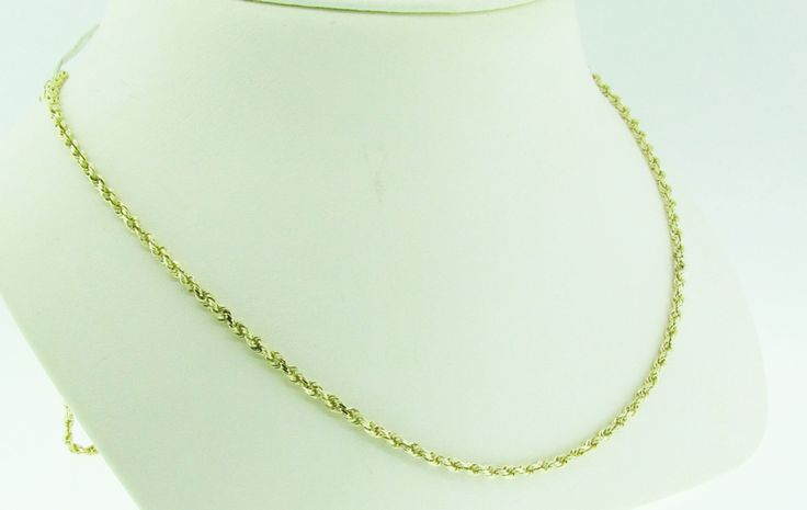 """Estate 25.5"""" long rope chain. 14 K gold. by VintageJewelryBazaar on Etsy"""