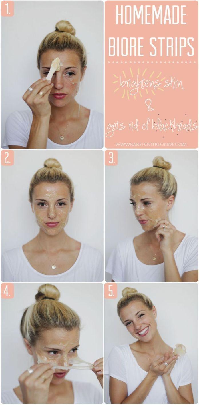 DIY Skin Care Recipes : DIY Biore: 2 ingredients to remove blackheads naturally #removeblackheadsdiy