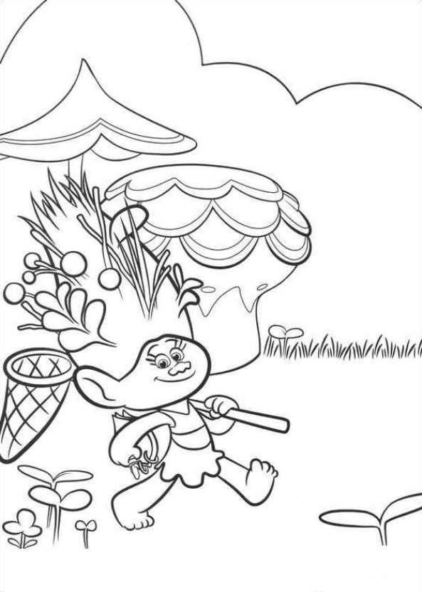 Trolls Coloring Pages For Kids 8