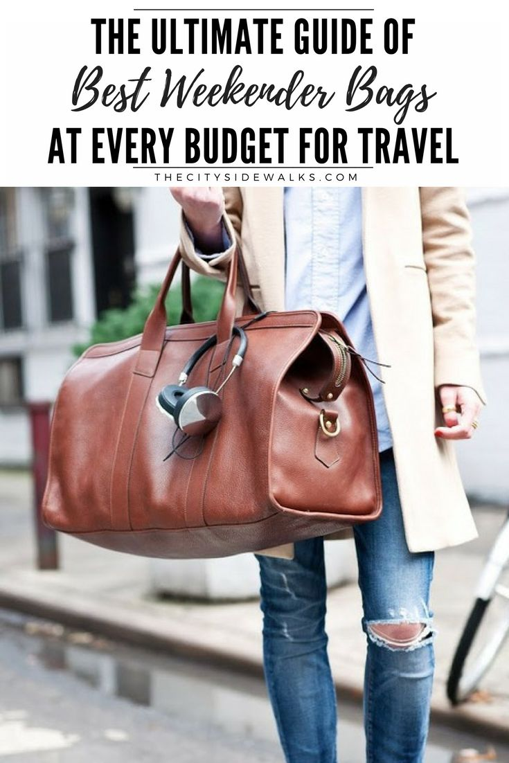 The best accessory for a weekend getaway (besides some statement sunnies and your camera) is a chic, reliable weekender bag. But your travel bag doesn't need to break the bank--there are great styles at every budget! Shop these weekender bags at every budget for travel to find the best one for your upcoming trip!