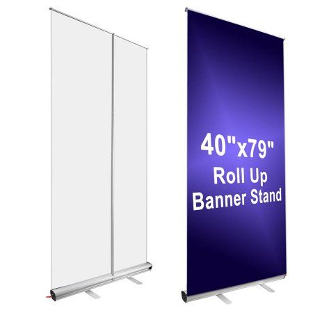 """Yescom Aluminum 40""""x79"""" Retractable Roll Up Trade Show Banner Stand for Signage Display Exhibitions w/ Carry Bag"""